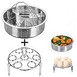 3Pcs/Lot cuiseur vapeur en acier inoxydable Panier Ensemble Instant Pot Œuf cuiseur vapeur Rack...