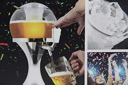InnovaGoods Ball Dispenser di Birra refrigerante, PMMA, Argento, 24 x 24 x 42 cm
