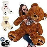 Deuba Ours en Peluche Teddy Bear XL 100 cm Blanc Nounours géant Tout Doux