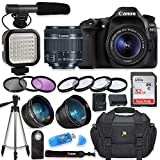 Canon EOS 80D Digital SLR Camera with Canon EF-S 18-55mm f/3.5-5.6 is STM Lens + Video LED Light +...