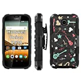 Huawei Union Y538 Phone Cover, Music Wall- Blitz Hybrid Armor Phone Case for [Huawei Union Y538] with [Kickstand and Holster]