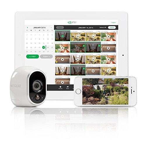 51k1zd6M3rL [Bon plan Arlo ] Caméra de surveillance Wifi Sans fils, Pack de 1 HD Jour/Nuit, Etanche IP65, Intérieur/Extérieur, Fixation A...