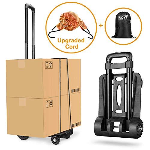 Wilbest Gepäckwagen, 70Kg/155Lbs Faltbarer Transportkarren Handwagen, Leichtgewichtiger Transportkar