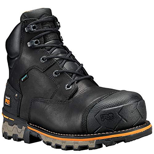 Timberland PRO Men's Boondock 6' Composite Toe Waterproof Industrial & Construction Shoe, Black Full Grain Leather, 11 M US