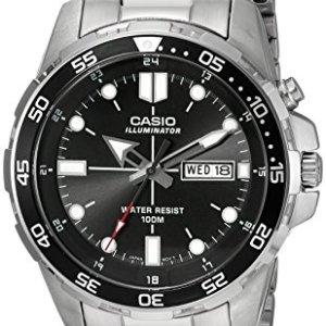 Casio Men's MTD-1079D-1AVCF Super Illuminator Diver Analog Display Quartz Silver Watch 29