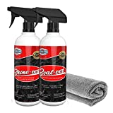Granite Cleaner, Sealer, Polish Kit from Clean-EEZ (The Floor Guys). The Seal-EEZ & Shine-EEZ Kit with Free Microfiber Cloth is All You Need to Keep Your Countertops Looking Beautiful!