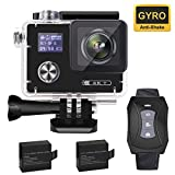 Aokon ARC500 4K Action Camera 16MP Waterproof Underwater Night Mode Ultra HD Sports Cam with 2' Dual Screens/120°- 170° Adjustable Wide Angle Lens/Rechargeable Remote/2 Batteries/20 Accessories Kits
