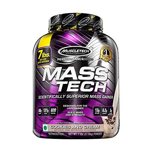 MuscleTech Performance Series Mass Tech | Post-Workout Mass Gainer | 60g Protein & Complex Carbs |...