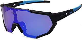 X-TIGER Polarized Sports Sunglasses with 3 or 5 Interchangeable Lenses,Mens Womens..