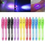 iZoeL Lot de 14 crayons à encre invisible avec lumière UV Cadeau...
