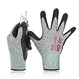 Gants Anti Coupure Niveau 5 DEX FIT Cru553, Confortable 3D Stretchy-Fit, Durable Foam...