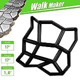 CJGQ 17'x17'x1.6' Walk Maker Reusable Concrete Path Maker Molds Pathmate Stone Moldings Stepping Stone Paver Yard Patio Lawn Garden DIY Walkway Pavement Paving Moulds (Irregular)