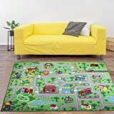Yincimar Kids Carpet Playmat Rug,6.6x5.0 ft Extra Large City Life Carpet Learning Exercise Mat Educational Car Rug Play Game Rug for Baby Toddler Boy Bedroom Playroom