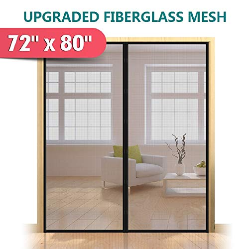 Upgrade Fiberglass Magnetic Screen Door,...