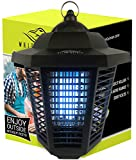White Kaiman Electric Bug Zapper Outdoor Mosquito Lamp - High Powered 2000 Volt Grid & 20W UV Tube Insect Attracting Mosquitoes ~ Killer Waterproof Bug Zapper