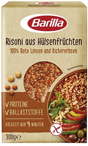 Barilla Risoni aus Hülsenfrüchten - Rote Linsen und Kichererbsen, 1er Pack (1 x 300g)