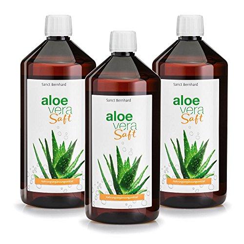 Sanct Bernhard Aloe-Vera-Saft unverdünnt, IASC-Qualität, 3 x 1000 ml