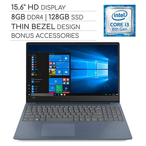 Lenovo IdeaPad 330s 2019 Laptop Notebook 15.6 Thin Bezel HD Computer, Intel Core i3-8130U 2.2GHz, 8GB DDR4, 128GB SSD, Wi-Fi,Bluetooth,Webcam,HDMI,USB 3.1-C, Windows 10, No DVD-RW, Bonus Accessories