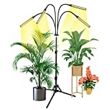 Grow Light with Stand, Slaouwo LED Floor Grow Lights for Indoor Plants, Smart Full Spectrum Grow...