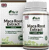 Maca Root 2500 mg - à base de racine de maca - Cure de 6 mois/180 Gélules - Compléments...