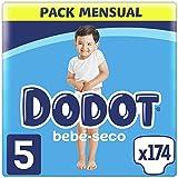 Dodot Pañales Bebé-Seco Talla 5 (11-16 kg), 174 Pañales con Protección...