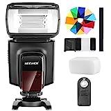 Neewer TT560 Flash Speedlite mit 12 Farbfiltern und IR Drahtlose Fernbedienung Kit für Canon Nikon Panasonic Olympus und andere DSLR Kameras, Harter Diffusor
