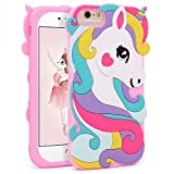 Vivid Unicorn Case for 8 7 6 6S 4.7',3D Cartoon Animal Cute Soft Silicone Rubber Protective Pink Cover,Childish Animated Stylish Fashion Cool Skin Shell for Kids Child Teens Girls (i876 4.7')