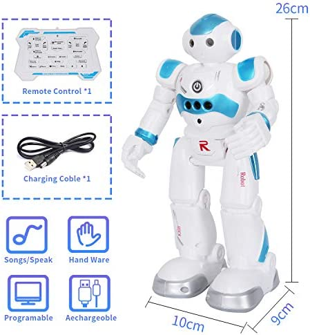 BBdis RC Robot Toy, Gesture Sensing Remote Control Robot for Kids Intelligent Programmable Robot with Infrared Controller Singing Dancing & Walking Robot for Girl Boy 3-12 Year Birthday Gift Present 17