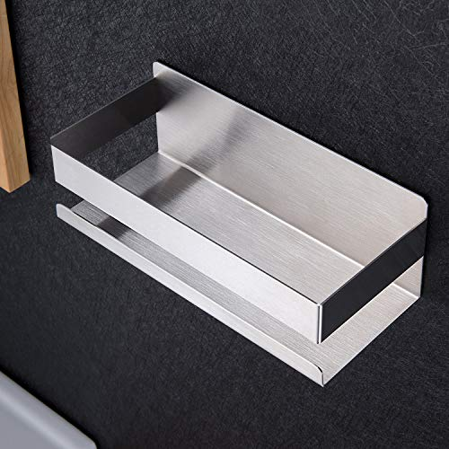 ZUNTO Duschablage Ohne Bohren Duschkorb Selbstklebend Duschregal aus Edelstahl für Badezimmer