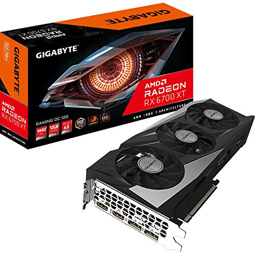 Gigabyte Technology Radeon RX 6700 XT Gaming OC 12G AMD 12 GB GDDR6, GV-R67XTGAMINGOC-12GD
