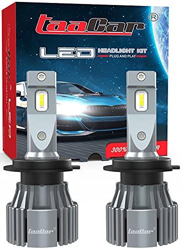 TAACAR Lampadine H7 LED Canbus 12000LM 6500K Lampadina Alogena Di Ricambio e Kit Xenon