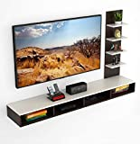 BLUEWUD Primax Engineered Wood TV Entertainment Wall Unit/Set Top Box Stand (Standard/Ideal for up to 55')