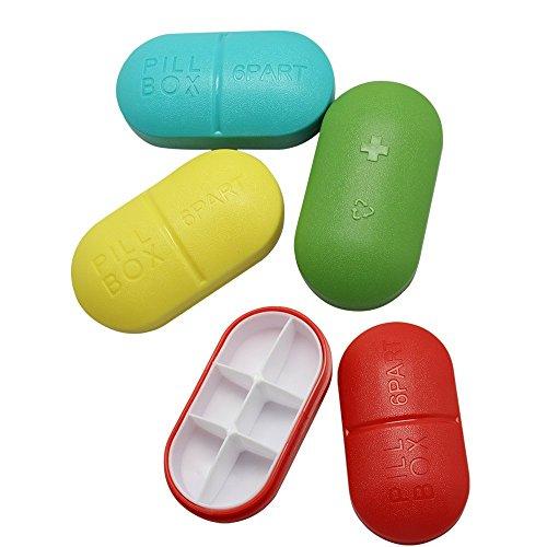 BlueBeach Pack de 2 Pilulier de Voyage Boîte à Pilules Vitamines Tablet...