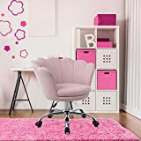 Goujxcy Desk Chair,Modern Linen Fabric Office Chair,360° Swivel Height Adjustable Comfy Upholstered...