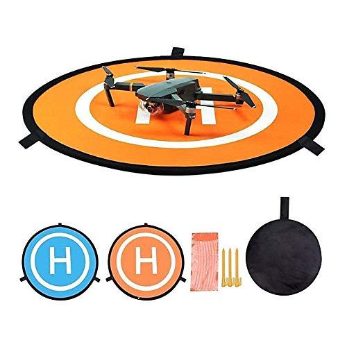 CYH Landing Pad per Drone, Drone Landing Pad 22 Pollici (55 cm) Tappeto di Atterraggio Pieghevole Impermeabile Base di Lancio per Elicotteri Portatile per DJI Mavic Phantom 3 4 Spark Mavic PRO