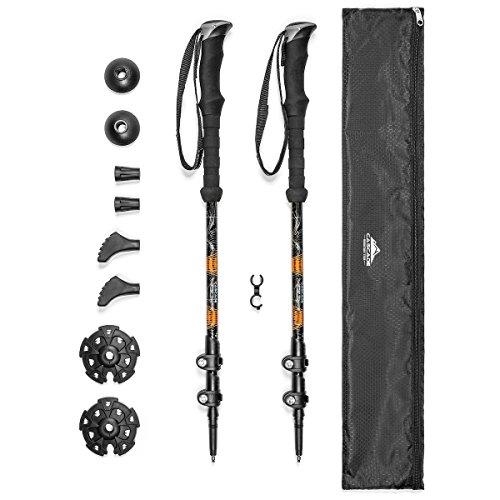 Cascade Mountain Tech Aluminum Adjustable Lightweight Trekking Poles with Cork Grip