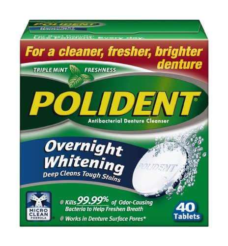 Polident Overnight, 40count