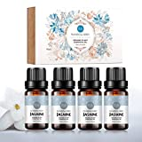 4 bouteilles d'huile essentielle de jasmin 100% pure huile d'aromathérapie...