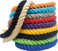 Ravenox Natural Twisted Cotton Rope | (Snow White Glitter)(1/2 Inch x 100 Feet) | Made in The USA | Strong Triple-Strand Rope for Sports, Décor, Pet Toys, Crafts, Macramé & Indoor Outdoor Use
