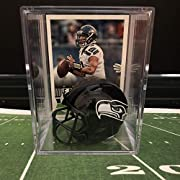 Seattle Seahawks Russell Wilson Collect them all NFL mini helmet shadowbox Limited Edition keepsake Great for fantasy football display