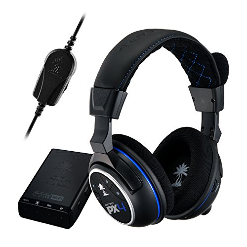 Turtle Beach Ear Force PX4 Premium Wireless Gaming Headset with Dolby Surround Sound and PS4 Talkback Cable for PlayStation 4, PlayStation 3, Xbox 360 and mobile devices
