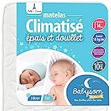 Babysom - Matelas Bébé Climatisé - 60x120 cm | Réversible : 1 Face...