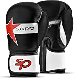 Starpro Gants de Boxe pour Entrainement - Cuir Gant pour Sparring Muay Thai Sac...