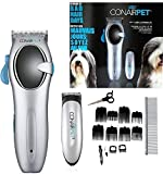 CONAIR CPG81C 20 Piece Combo Pet Hair Grooming Kit Dog Clippers & Trimmer Set Low Noise Rechargeable Cordless Pet Dogs and Cats Trimming Kit Set
