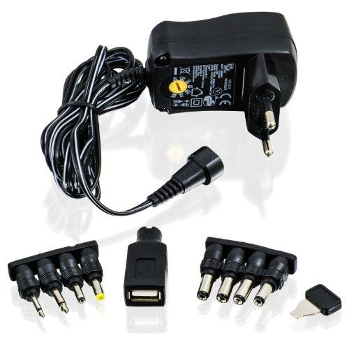CSL - Bloc d'alimentation Adaptateur Universel 3 4,5 5 6 7,5 9 et 12 V AC...