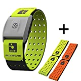 Scosche Rhythm+ Heart Rate Monitor Armband- Optical Heart Rate Armband Monitor with Dual Band Radio ANT+ and Bluetooth Smart - Bonus Pack Includes Additional Free Armband (Green)