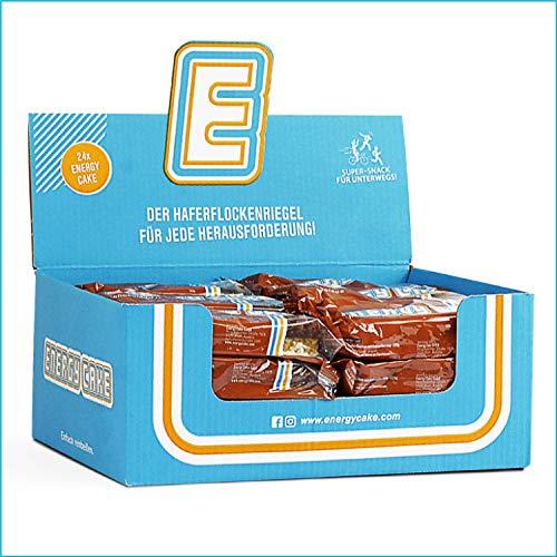 Energy Cake – Schokolade 24x 125g (3kg) - Fitness Riegel aus Haferflocken mit langkettigen Kohlenhydraten – Flapjack Sattmacher für den Alltag mit weniger Zucker & unglaublichem Geschmack
