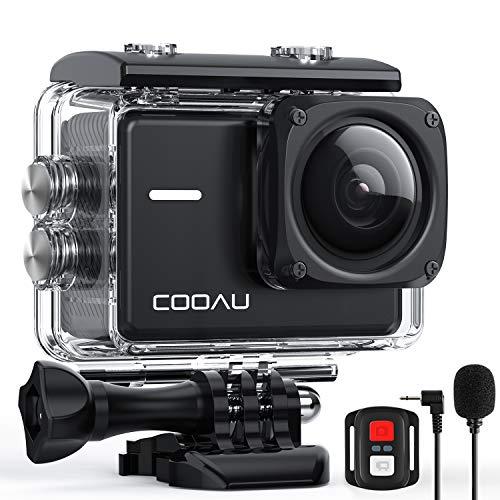 COOAU Action Cam 4K Nativo 60fps 20MP con WiFi Zoom 8X Nuova Stabilizzatore Elettronica, Subacquea...