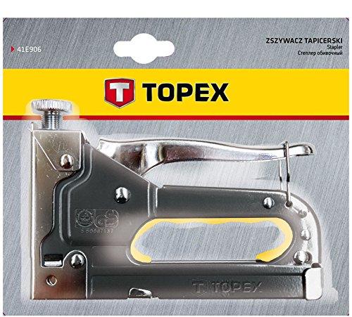 Topex 41E905 Cucitrice da tappezziere per graffette tipo J