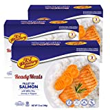 Kosher Salmon Fillet Fish, Parve MRE Meal Ready to Eat, Protein Food (3 Pack) Prepared Entree Fully Cooked, Shelf Stable Microwave Dinner – Travel Military Camping, Emergency Survival Prepping Supply